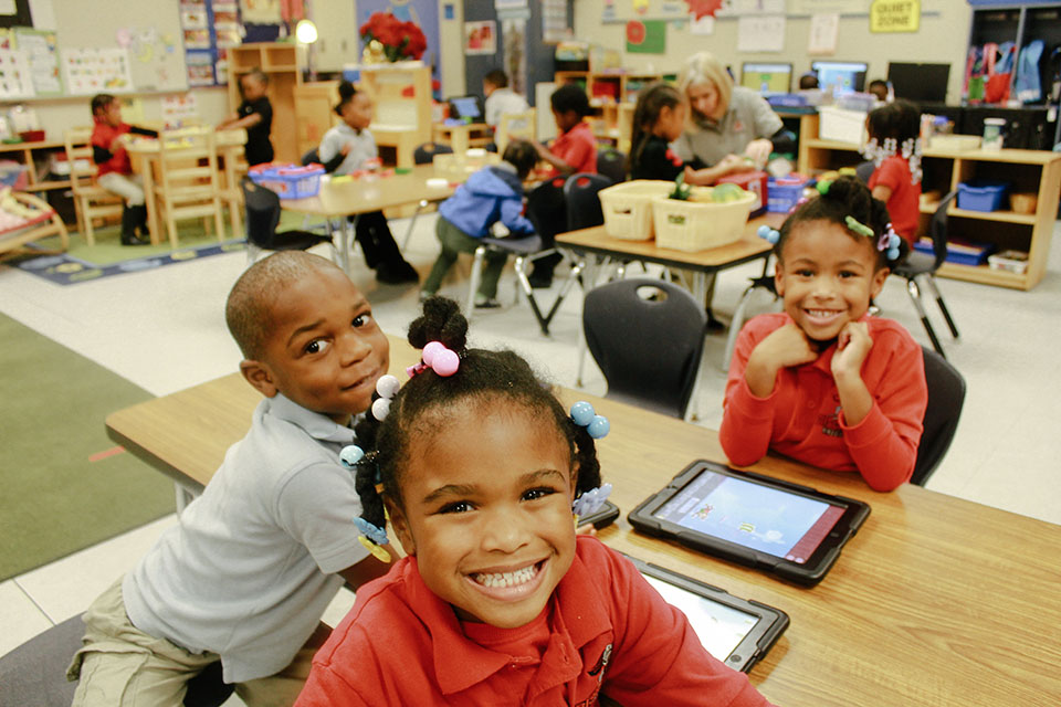 Picture of Biscayne Elementary School students in a classroom.