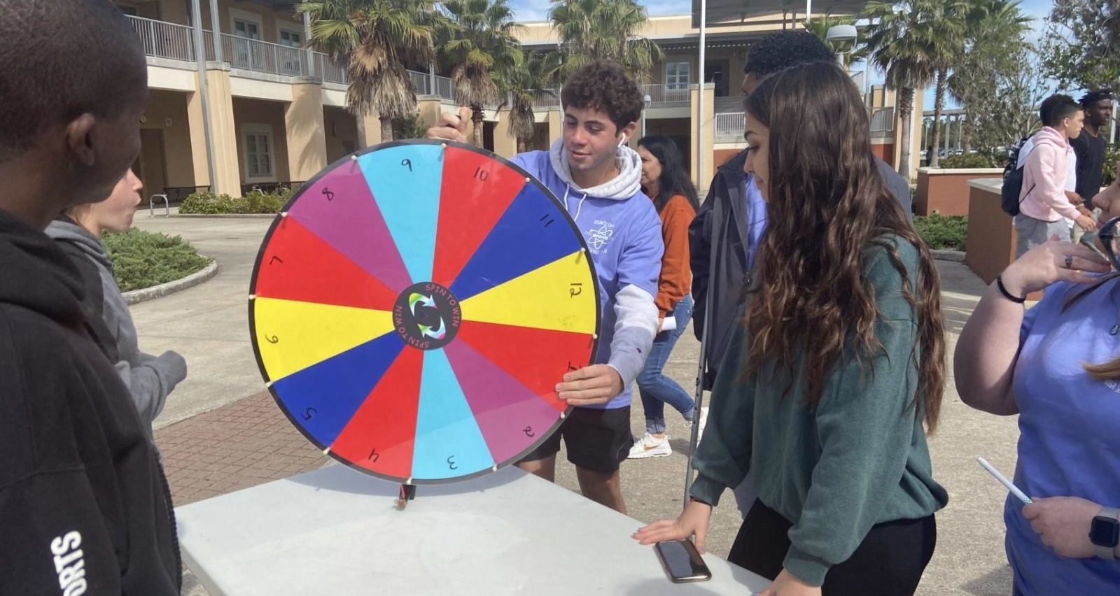 Picture of students playing a carnival game at Atlantic Coast High School.