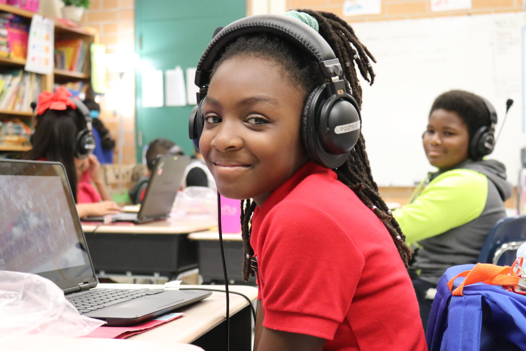 Smiling student at Beauclerc Elementary School