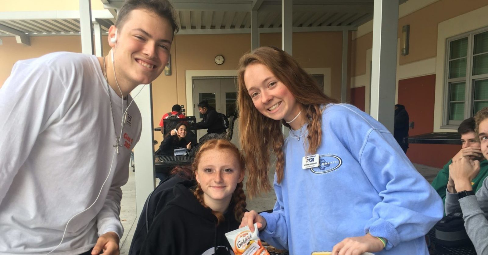 Picture of students smiling at Atlantic Coast High School.