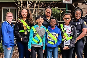 A picture of a group of safety patrols at Chimney Lakes Elementary School.