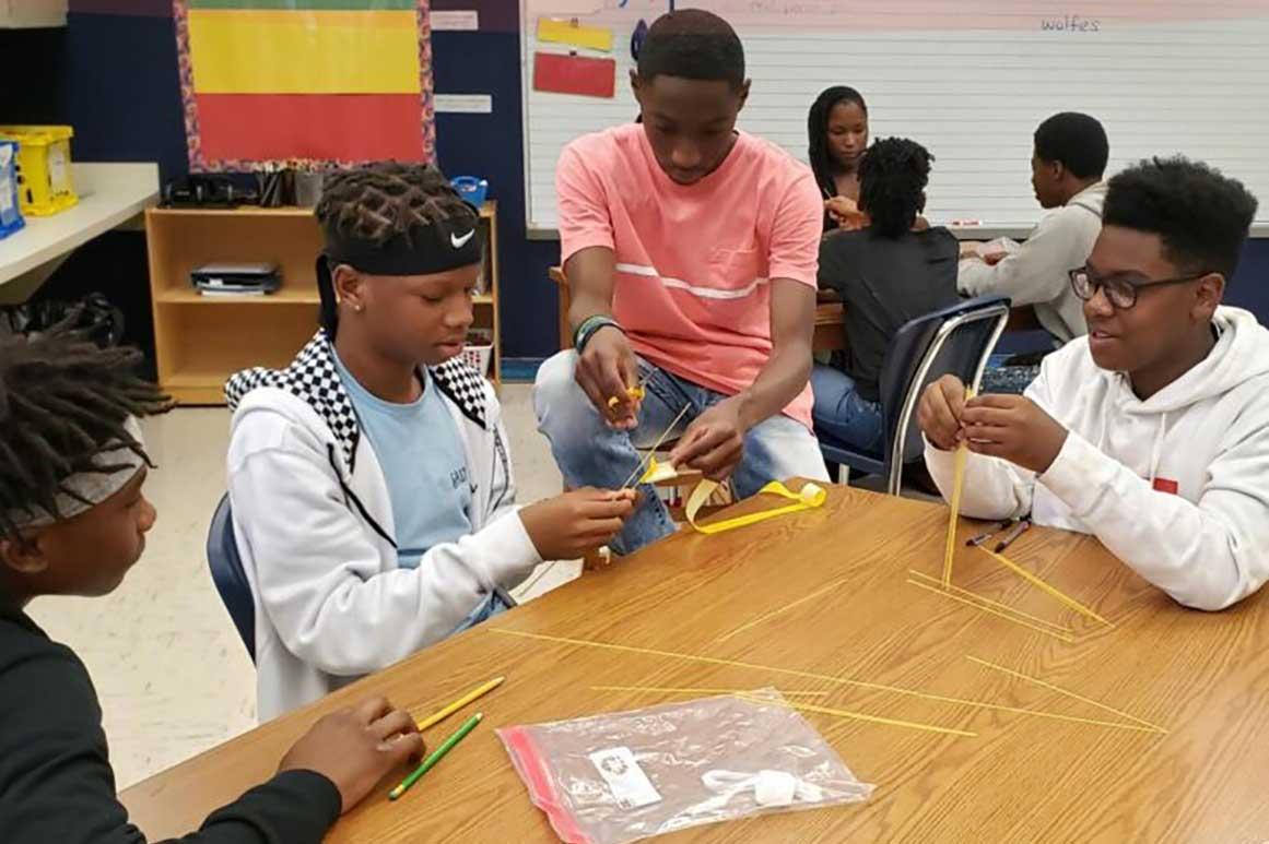 John E. Ford Montessori K-8 middle school students