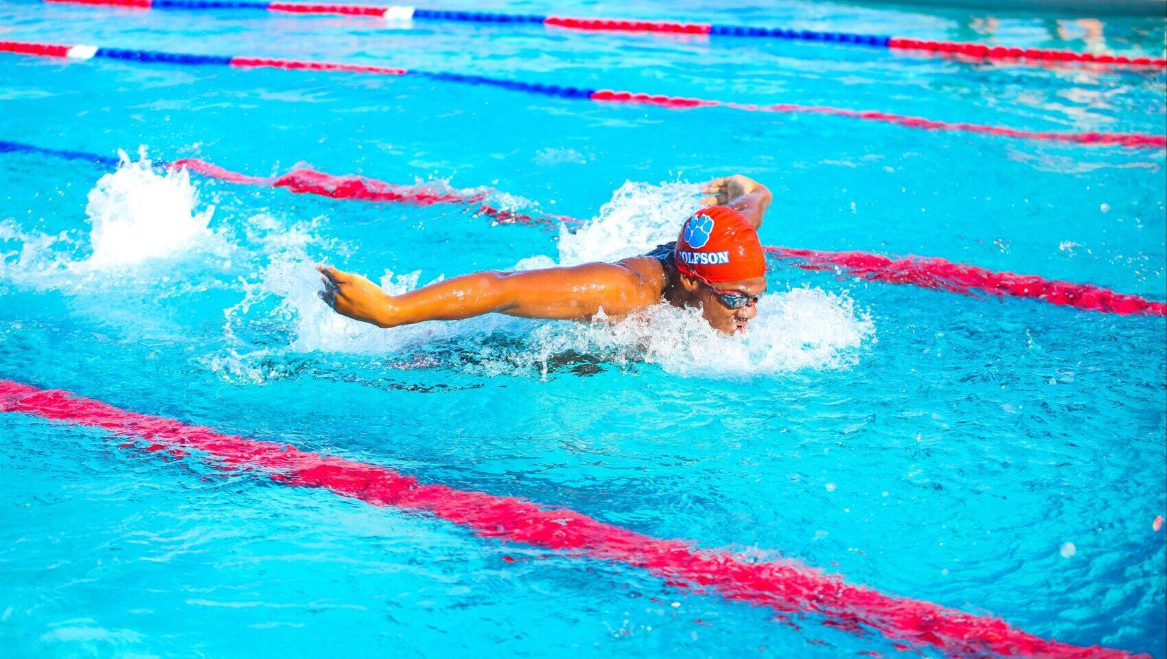 swimmer at Wolfson High School