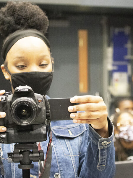 Picture of girl with camera