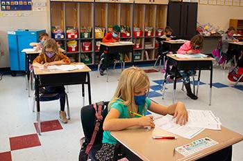 Students hard at work Bartram Springs Elementary School